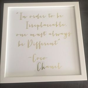 Accessories - Chanel quote wall decor